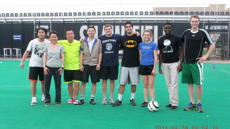 Biotech students soccer team 2014